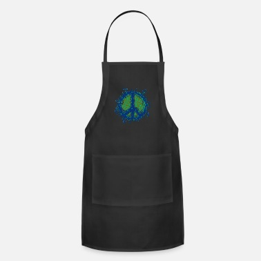 Hipster Unique Peace Sign graphic - Funky Slime 60s 70s - Apron