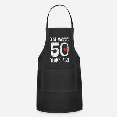 Anniversary Vintage Just Married 50 years Ago - Apron