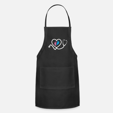 Feet Obstetric Nurse Baby Feet Stethoscope - Apron