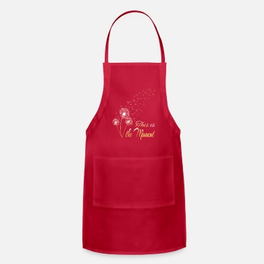 Sow Dandelion Wild Herbs Tattoo Flying Seed Gift - Apron