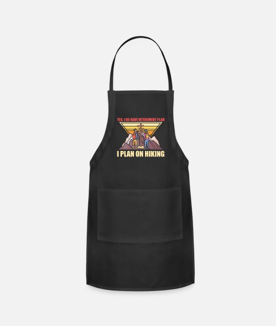 Mountains Aprons - Retirement Hiking Hiker Grandpa Grandma - Apron black