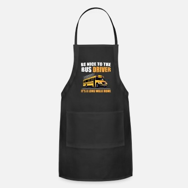 Female Hero Funny School Bus Driver Shirt Bus Driver - Apron