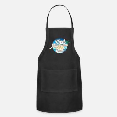 Most Awesome Dad Father's Day Calligraphy - Apron