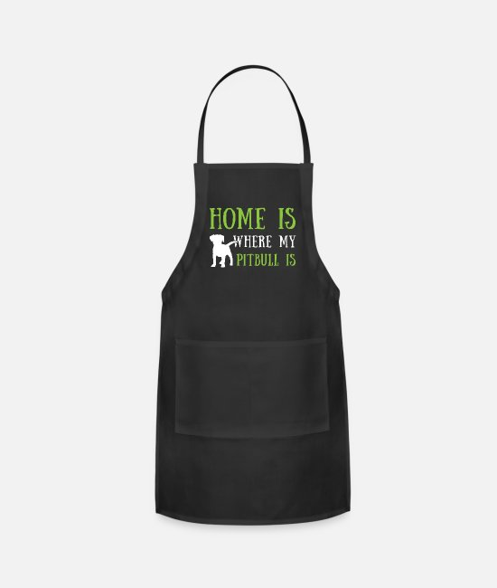 Pitbullbaby Aprons - Pitbull t shirt - Apron black