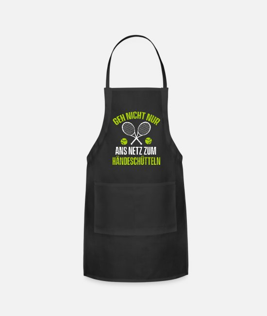 Tennis Aprons - Just Shake My Hand Tennis - Apron black