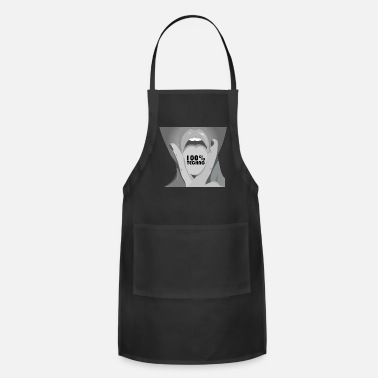 100% Hardstyle Techno 100% electro music 120 BPM Hot girl Rave - Apron