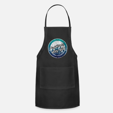 Building Fort Worth city kid worn look - Apron