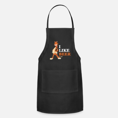 Beer cool Tiger big cat beer lovers king gift - Apron