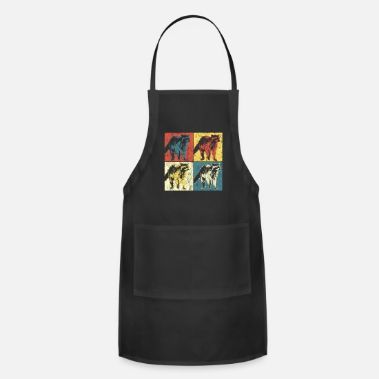 Design Aprons - Pet Retro Vintage Gift - Apron black