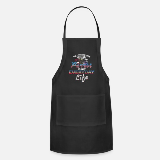 Movie Aprons - Movies parrot gift idea - Apron black