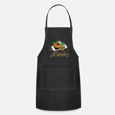 Mp3 Chameleon loves MP3 music - Apron