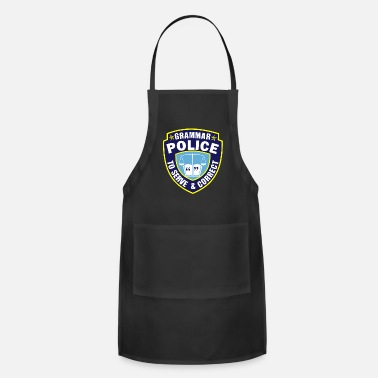 Tacher Grammer Police Serve Correct Spelling Teacher - Apron