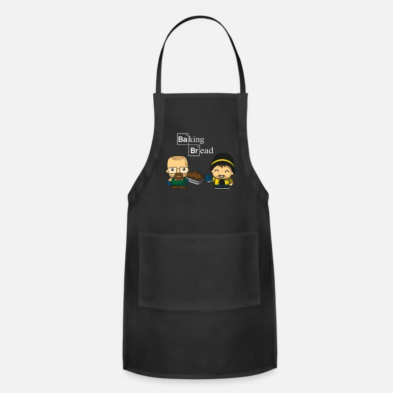 Retirement Aprons - Baking Bread - Apron black