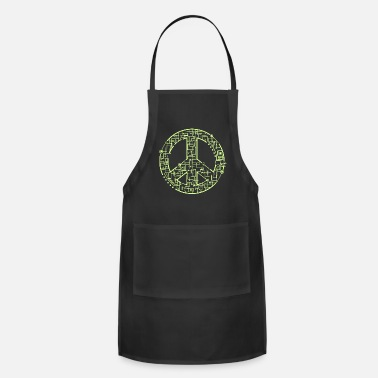 Electric Peace Sign Anti War Pacifist Gift Idea - Apron