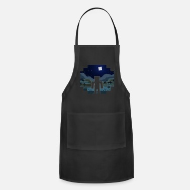 Mine Craft Mine Craft Landscape Night Outline - Adjustable Apron