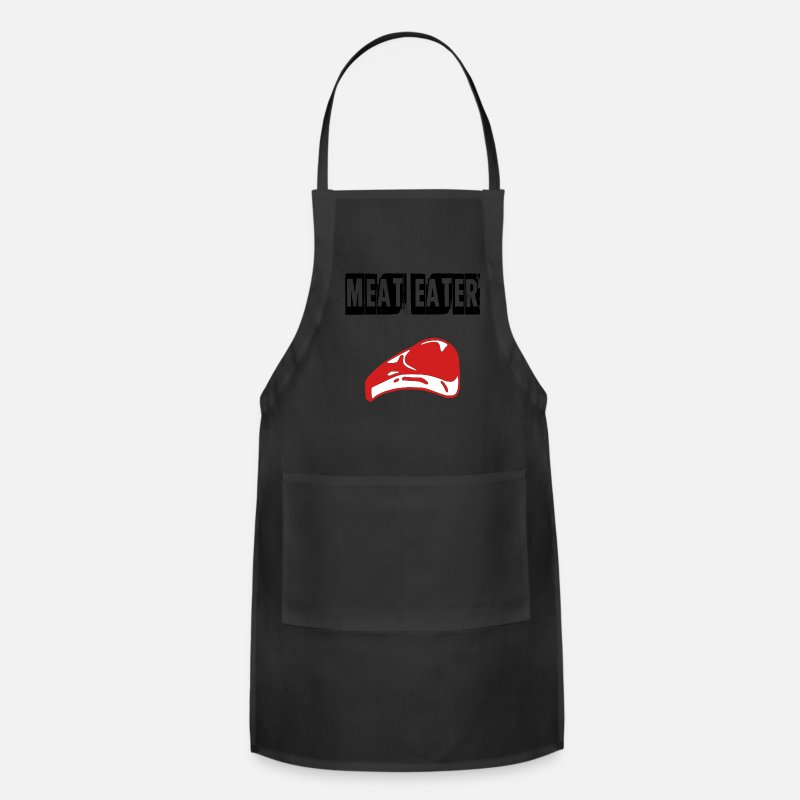 Meat Aprons - meat eater - Apron black