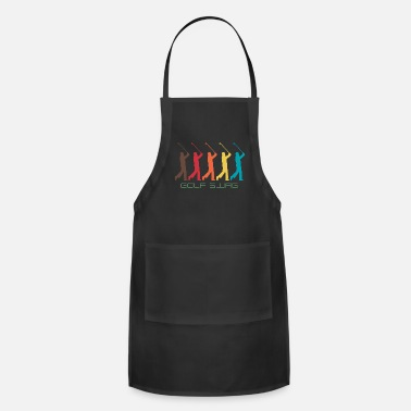 Swagalicious Golf Swag Gold course birdie whole in one - Apron