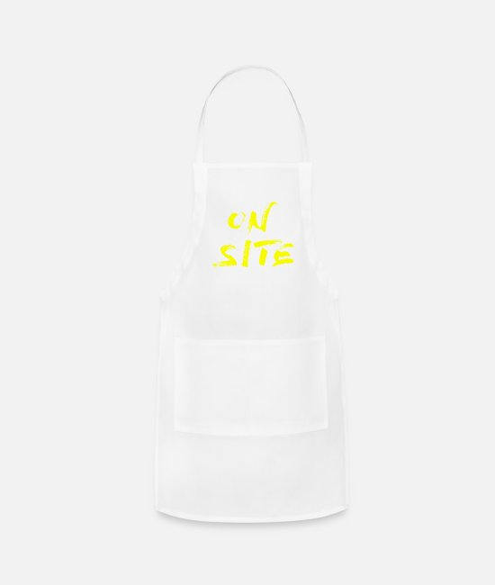 Site Aprons - ON SITE yell - Apron white