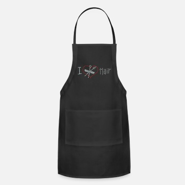 Hair I Love Hair Rhinestone - Adjustable Apron