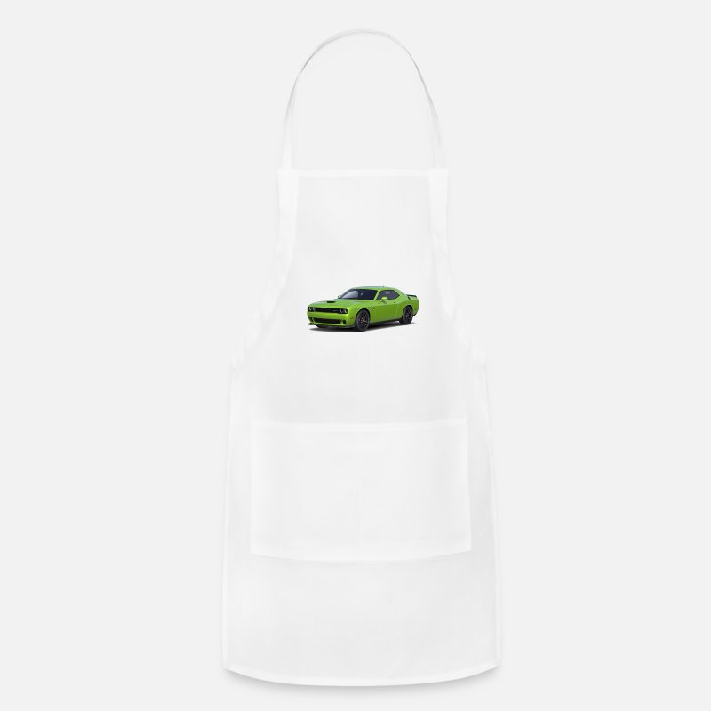 Green Dodge Challenger Apron