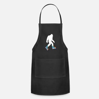 Bigfoot Bigfoot Roller Skating Funny Design - Apron