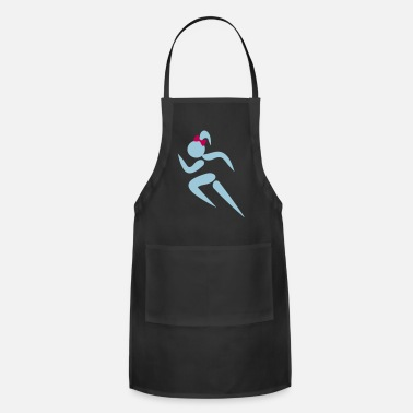 Stick Figure ❤✦Sexy Female Sprinter Wearing a Pony tail✦❤ - Apron