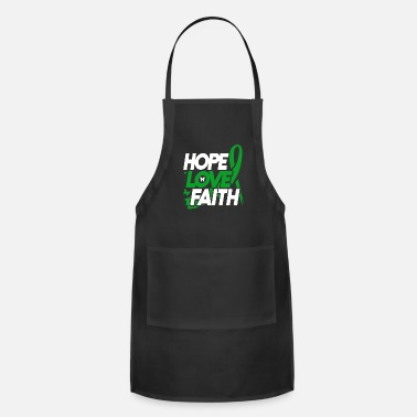 Brain Brain Injury Awareness TBI Green Support Recovery - Apron