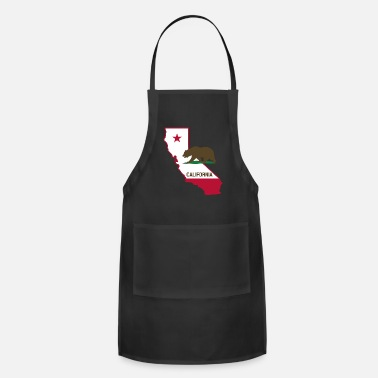 State CALIFORNIA STATE WITH STATE BEAR - Adjustable Apron