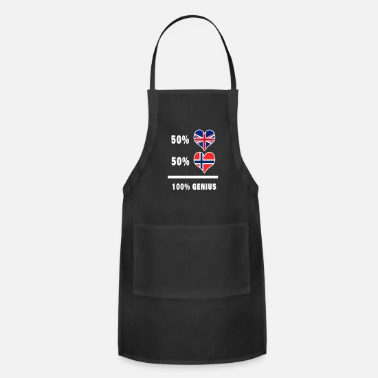 Forever Aprons - Great Britain and Norway 100% genius - Apron black