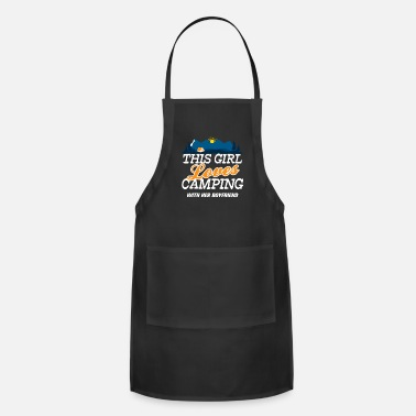 This Guy Loves His Boyfriend This Girl Loves Camping With Her Boyfriend - Apron