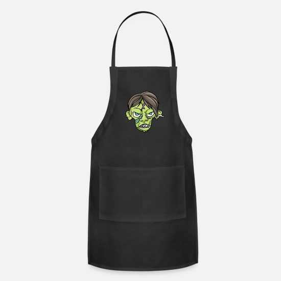 Gift Idea Aprons - Zombie Monster Death Undead Cemetery Gift - Apron black