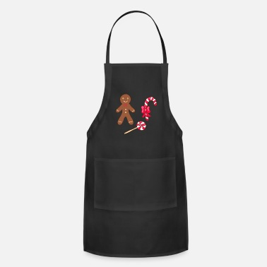 Christmas Bakery Gingerbread Man Cookies Xmas - Apron