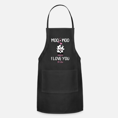 Moo Moo Cow Love You Geschenk - Apron