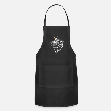 Horns Zebra herd nature hoof black pattern - Adjustable Apron