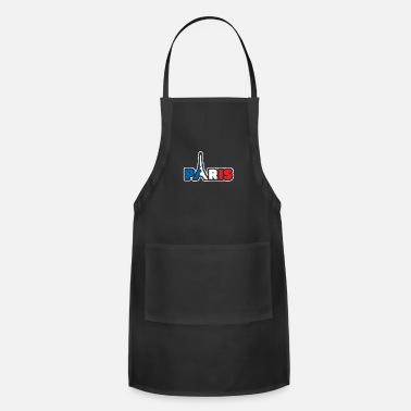 French Flag Paris French Flag - Gift idea - Adjustable Apron