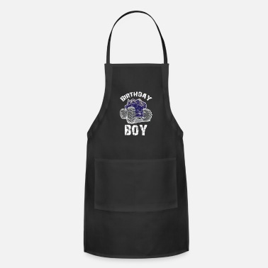 Monster Truck Birthday Boy, Boys Birthday - Apron
