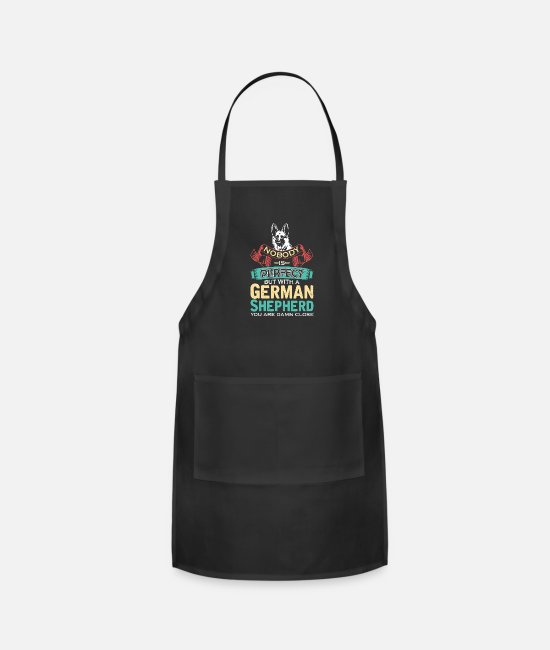 Shepherd Aprons - German Shepherd - Apron black
