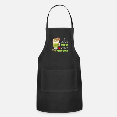 Nice I Love You Very Matcha Cute Matcha Pun (Ver. 2) - Apron