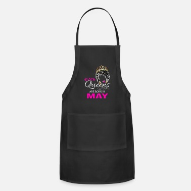 African American Black Queen May Birthday African American Gift - Adjustable Apron