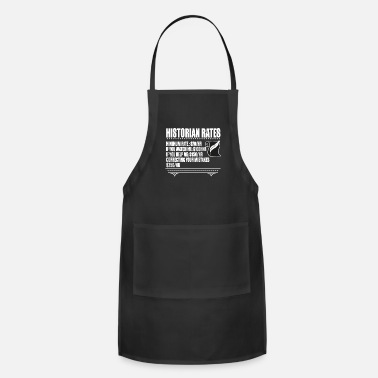 Minimum Minimum Rates T Shirt, Historian Rates T Shirt - Adjustable Apron
