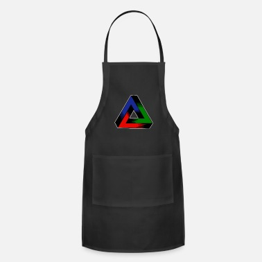 Tri-color Eye Popping Geomtry Tri Color Design - Adjustable Apron