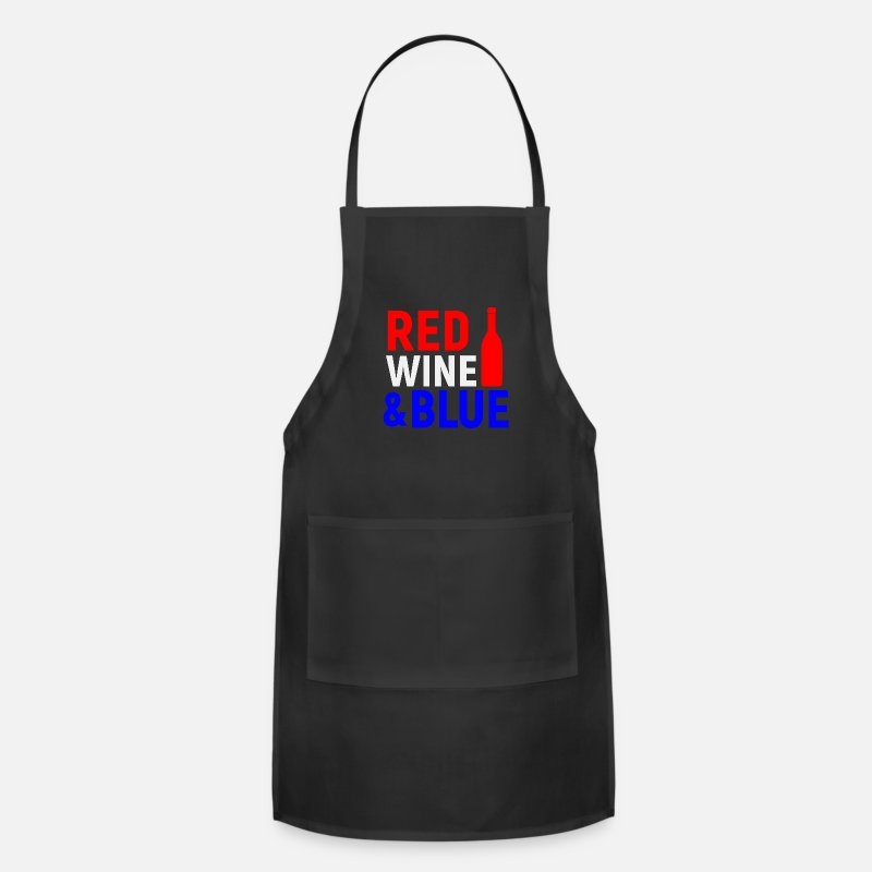 Red Aprons - red wine - Apron black