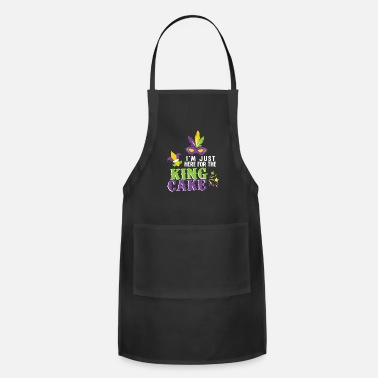 Cake Mardi Gras King Cake New Orleans Parade Boys - Adjustable Apron
