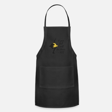 Beutiful Beutiful and Charming Tshirt Design Ice Skater - Apron