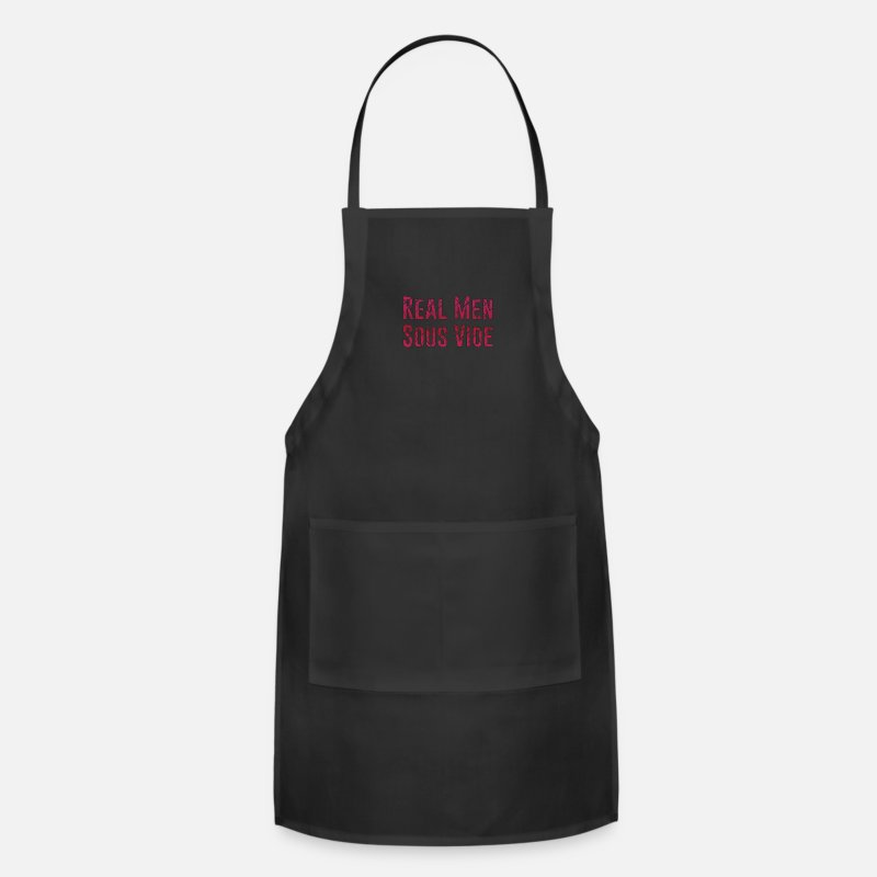Real Aprons - Real Men Sous Vide Cooking Steam Cooking Hobby - Apron black