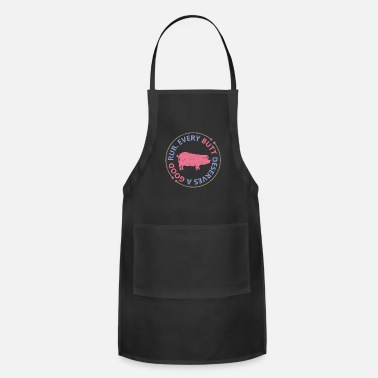 Grilled Meat BBQ Grilling Grill Master Grill Gift Meat - Adjustable Apron