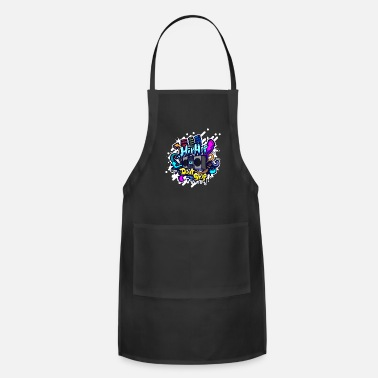 Hip Hip Hop classic ghettoblaster graffiti - Adjustable Apron