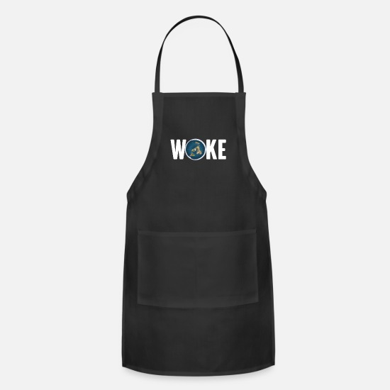 Injustice Aprons - Woke Earth Global Community Awareness Protest, - Apron black