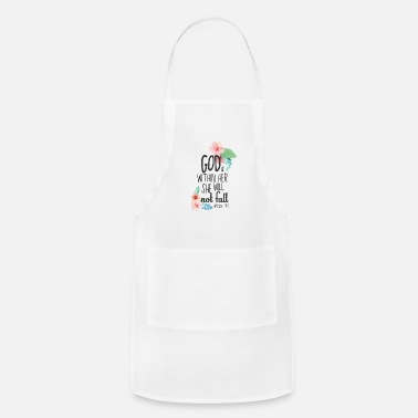 Bible inspirational quotes God Within Her Not Fall - Apron