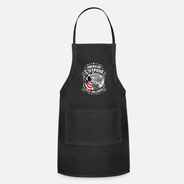 Sheepdog Police American Sheepdog Pride And Honor - Apron